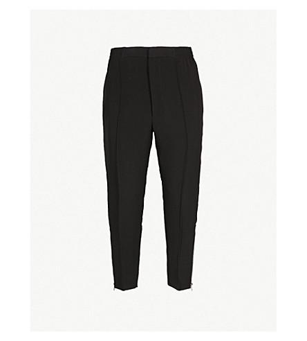 ALEXANDER MCQUEEN 休闲版型紧身绉裤子 (黑色