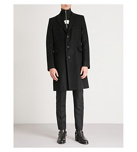 blend Faux coat Black blend MCQUEEN MCQUEEN Faux Black turtleneck ALEXANDER coat ALEXANDER wool wool turtleneck pFIdIUxq