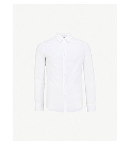 ALEXANDER MCQUEEN 常规版型棉衬衫 (白色