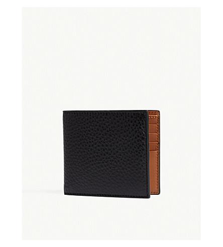 RALPH LAUREN PURPLE LABEL Grained leather billfold wallet (Black
