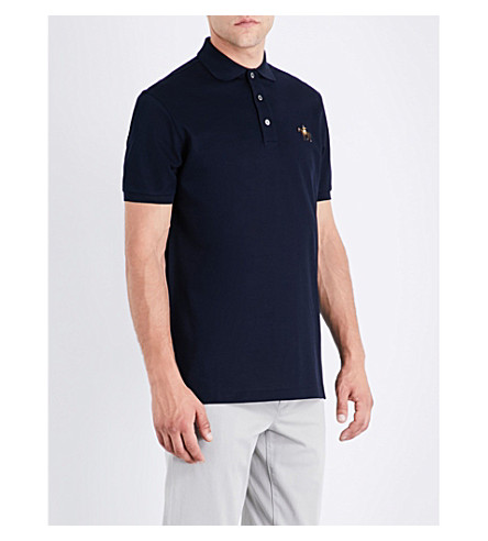 RALPH LAUREN PURPLE LABEL Logo cotton polo-piqué shirt (Classic+chairman+navy