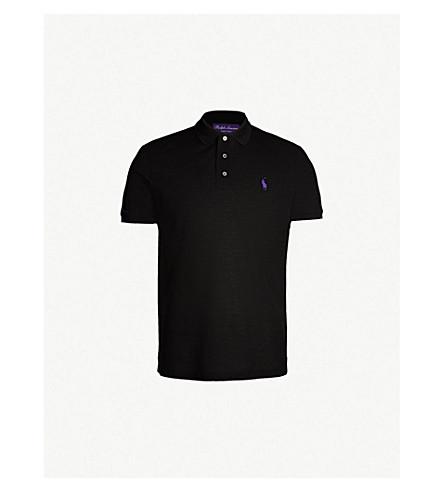 POLO RALPH LAUREN Logo-embroidered cotton-piqué polo shirt (Classic+black
