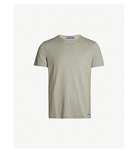 RALPH LAUREN PURPLE LABEL Crewneck cotton-jersey T-shirt (Light+grey