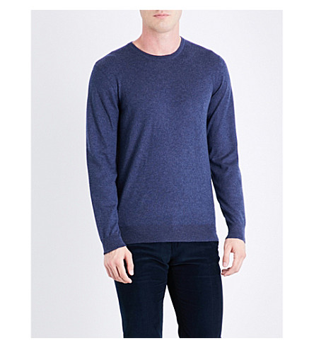 RALPH LAUREN PURPLE LABEL Fine-knit cashmere jumper (Airforce