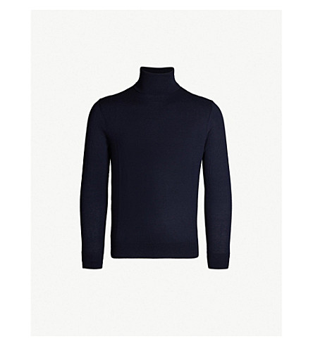 POLO RALPH LAUREN Turtleneck cashmere jumper (Classic+chairman+navy