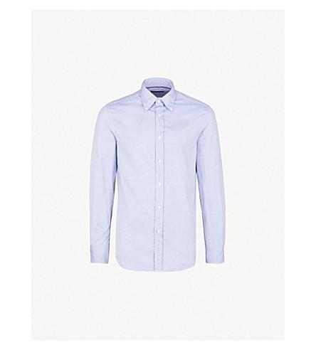 RALPH LAUREN PURPLE LABEL Regular-fit cotton shirt (Lt+blue