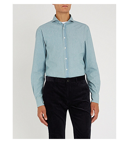RALPH LAUREN PURPLE LABEL Keaton cotton shirt (Blue