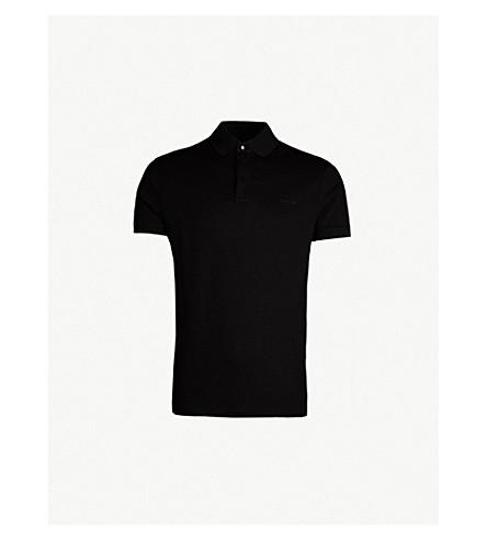 RALPH LAUREN PURPLE LABEL 常规版型棉质珠地布 Polo 衫 (经典 + 黑色