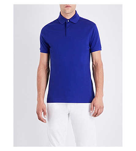 RALPH LAUREN PURPLE LABEL Regular-fit cotton-piqué polo shirt (Blue