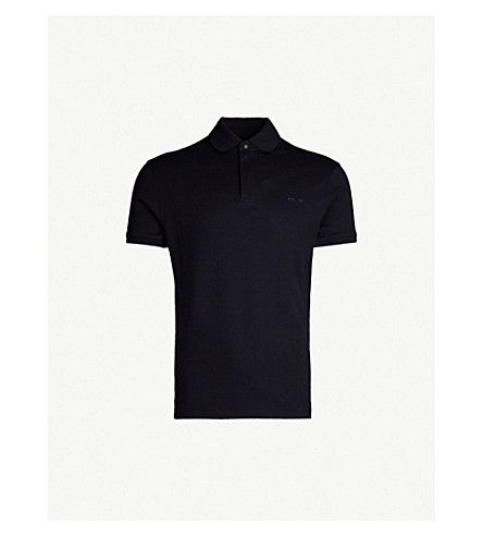 RALPH LAUREN PURPLE LABEL Regular-fit cotton-piqué polo shirt (Classic+chairman+navy