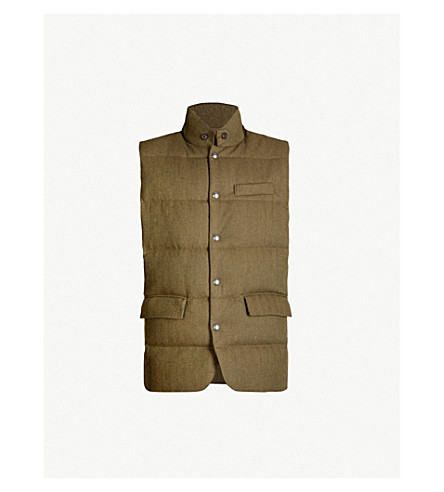 POLO RALPH LAUREN Padded wool gilet (Olive