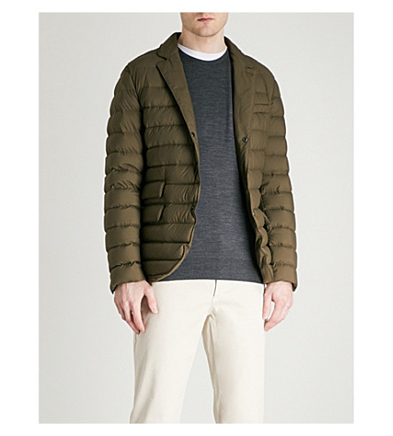 RALPH LAUREN PURPLE LABEL Cohen quilted shell-down jacket (Olive