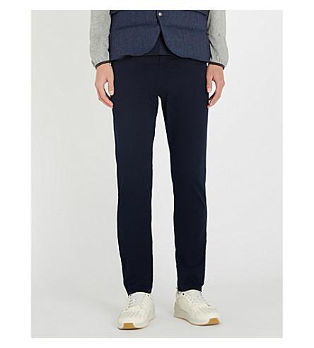 RALPH LAUREN PURPLE LABEL Belfort slim-fit straight cotton-blend chinos (Navy