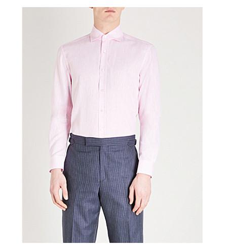 RALPH LAUREN PURPLE LABEL Serengeti regular-fit linen shirt (Pink