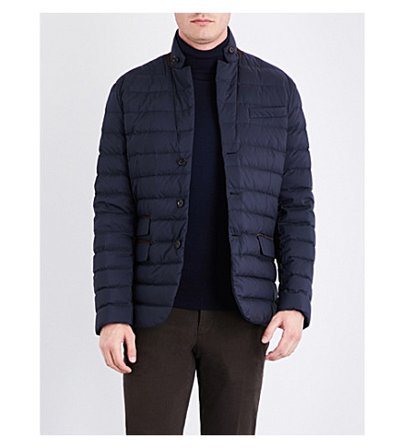 RALPH LAUREN PURPLE LABEL Down-filled padded shell jacket (Classic+chairman+navy