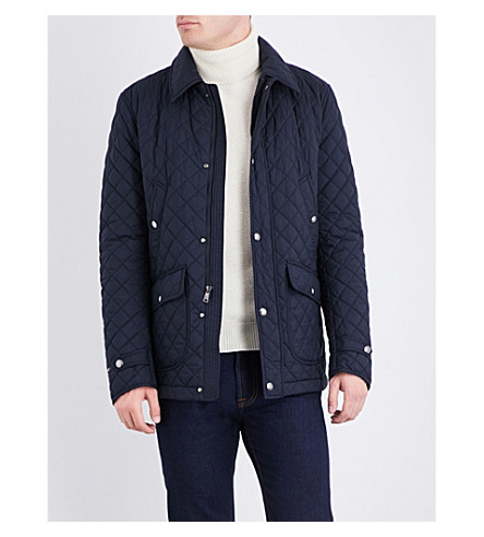 RALPH LAUREN PURPLE LABEL Quilted shell jacket (Classic+chairman+navy