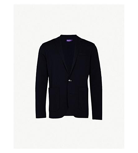 RALPH LAUREN PURPLE LABEL Slim-fit wool blazer (Classic+chairman+navy
