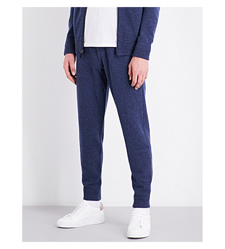 RALPH LAUREN PURPLE LABEL Relaxed-fit cashmere-blend joggers (Indigo+blue