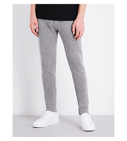 RALPH LAUREN PURPLE LABEL Relaxed-fit cashmere jogging bottoms (Grey