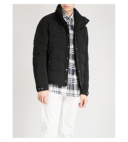 RALPH LAUREN PURPLE LABEL Quilted wool-down bomber jacket (Black