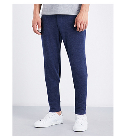 RALPH LAUREN PURPLE LABEL Marl jersey jogging bottoms (Dark+french+navy+melange