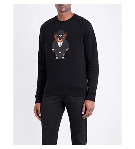 RALPH LAUREN PURPLE LABEL Bear cotton-blend sweatshirt (Black