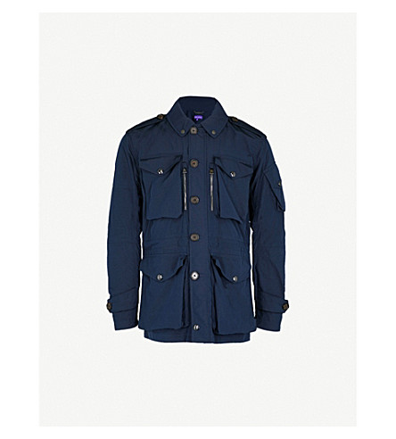 RALPH LAUREN PURPLE LABEL Pocketed shell jacket (Classic+chairman+navy