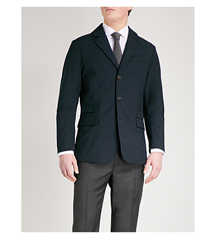 RALPH LAUREN PURPLE LABEL Regular-fit woven jacket (Classic+chairman+navy