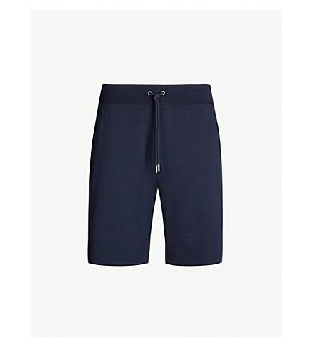 POLO RALPH LAUREN Lisle cotton-jersey shorts (Classic+chairman+navy