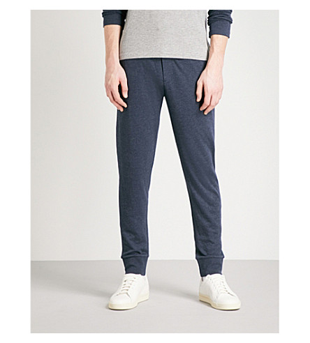 RALPH LAUREN PURPLE LABEL Tapered jersey jogging bottoms (Classic+chairman+navy