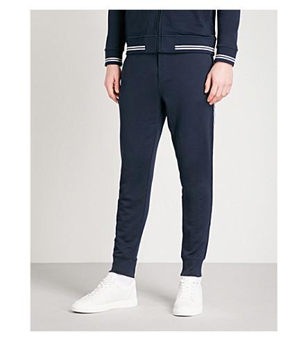 RALPH LAUREN PURPLE LABEL Varsity cotton-blend jogging bottoms (Classic+chairman+navy