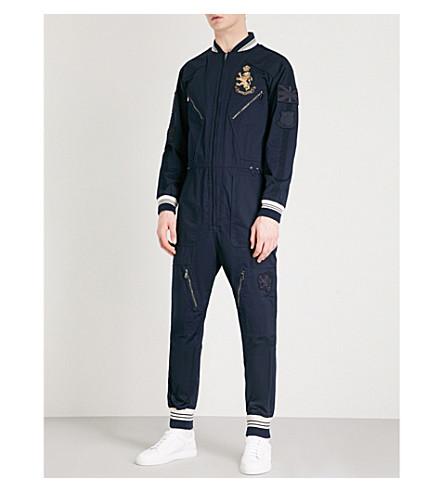 RALPH LAUREN PURPLE LABEL Willington cotton boiler suit (Classic+chairman+navy