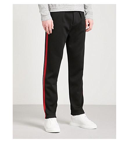 RALPH LAUREN PURPLE LABEL Side stripe neoprene jogging bottoms (Black