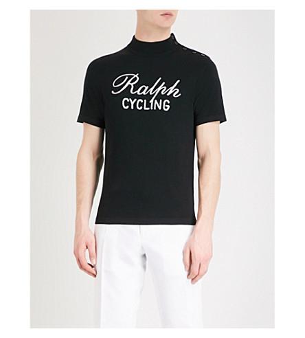 RALPH LAUREN PURPLE LABEL Cycling wool T-shirt (Black