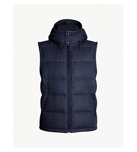 POLO RALPH LAUREN Philpot quilted wool-down gilet (Dk french blue