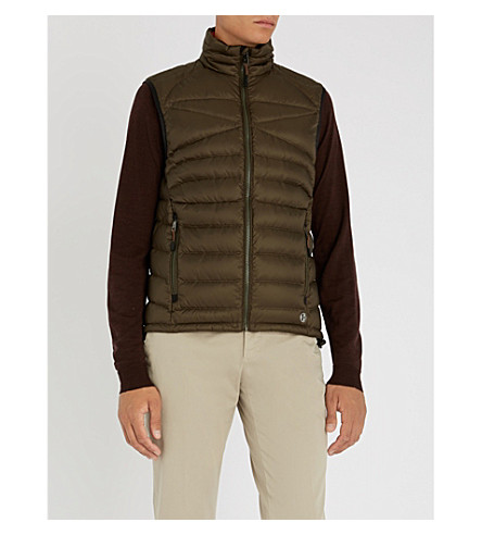 RALPH LAUREN PURPLE LABEL Padded shell gilet (Olive