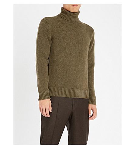 RALPH LAUREN PURPLE LABEL 高领羊绒毛衣 (丛 + 混杂