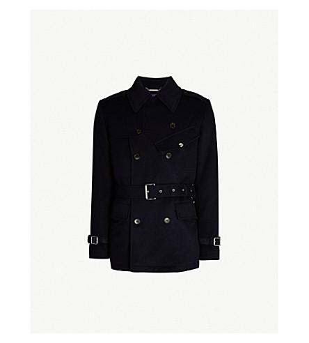 RALPH LAUREN PURPLE LABEL Irvinestown double-breasted wool coat (Classic navy