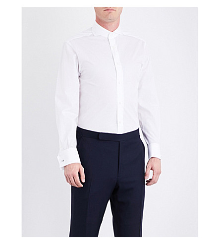 RALPH LAUREN PURPLE LABEL Keaton cotton shirt (White