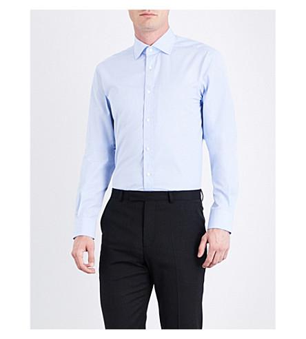 RALPH LAUREN PURPLE LABEL Aston cotton shirt (Sky+blue