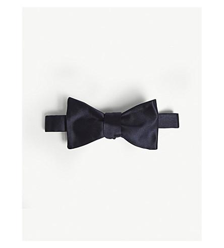 RALPH LAUREN PURPLE LABEL Satin silk bow tie (Dark+navy