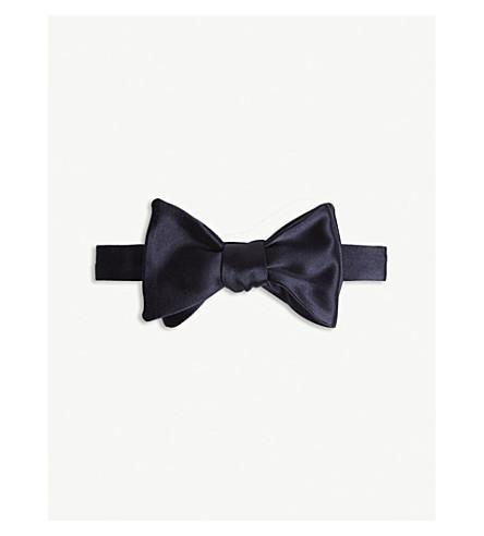 RALPH LAUREN PURPLE LABEL Satin silk bow tie (Navy