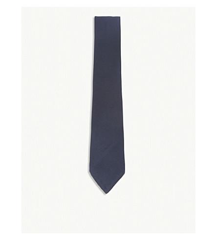 RALPH LAUREN PURPLE LABEL Textured silk tie (Dark+navy