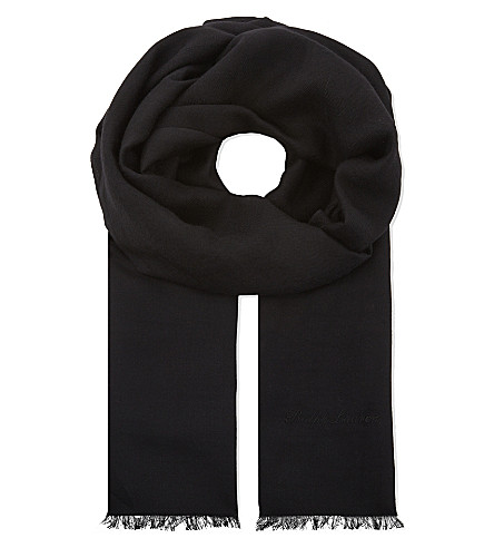 RALPH LAUREN PURPLE LABEL Cashmere scarf (Black