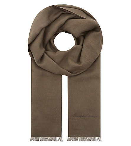 RALPH LAUREN PURPLE LABEL Cashmere scarf (Taupe