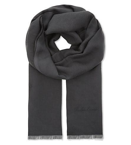 RALPH LAUREN PURPLE LABEL Cashmere scarf (Grey