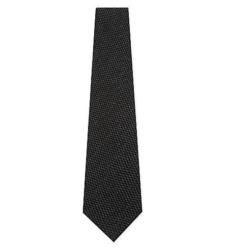RALPH LAUREN PURPLE LABEL Birdseye cashmere-silk tie (Charcoal