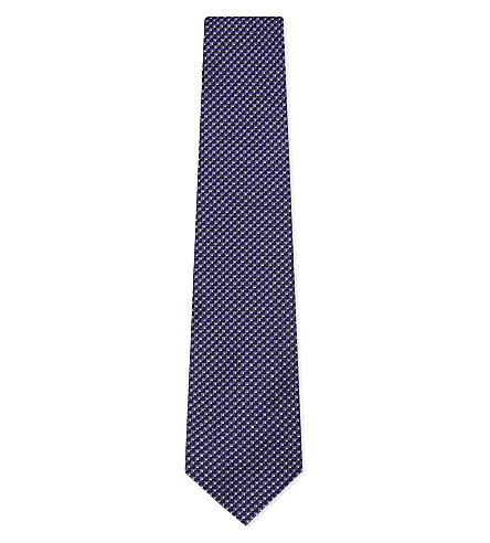 RALPH LAUREN PURPLE LABEL Zigzag dot silk tie (Purple