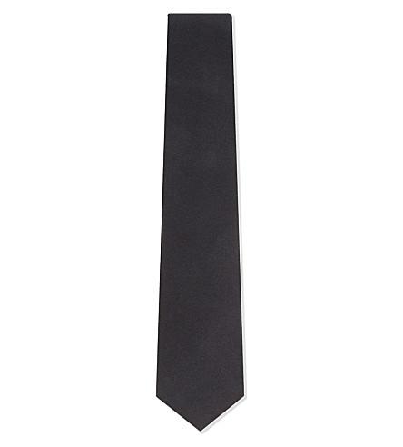 RALPH LAUREN PURPLE LABEL Japanese silk tie (Charcoal