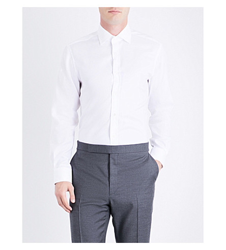 RALPH LAUREN PURPLE LABEL Aston regular-fit cotton shirt (White
